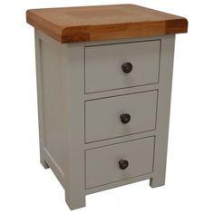 Meriden 3 Drawer Painted Bedside Cabinet