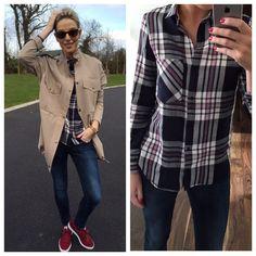 'Weekend Wear' - Fashion & Beauty Blog - Pippa O'Connor Have A Lovely Weekend, Weekend Wear, Everyday Fashion, Military Jacket, Style Me, Fashion Beauty, Plaid, Website, Pretty