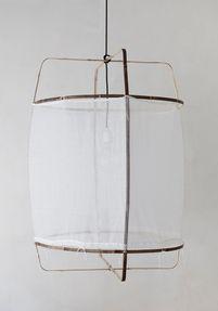 Z1 pendant light, white cotton