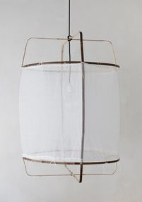 Z1 pendant light, white cotton