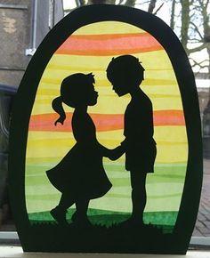 Transparant jongen en meisje Balerina, Silhouette, Window Art, Cute Drawings, Ramen, Rock, Prints, Paper, Beautiful Drawings