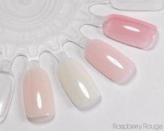 NAIL POLISH :: Essie Sheers :: Vanity Fairest, Marshmallow, Rock Candy & Pink Glove | #essie #sheerpolish #sheernailpolish