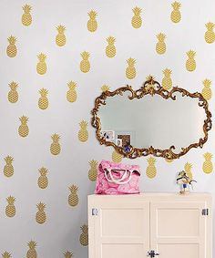 WallPops! Gold Foil Pineapple Decal Set | zulily