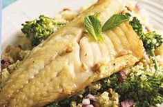 Sea bass with couscous