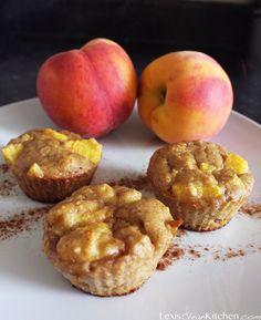 Paleo Peach Cobbler Muffins | SCD if clear honey
