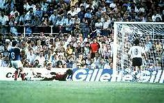 France 3 West Germany 3 (4-5 p) in 1982 in Seville. Substitute Karl-Heinz Rummenigge bundles the ball home to make it 2-3 on 102 minutes in the World Cup Semi Final.