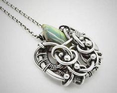 Labradorite jewelry, Labradorite wire wrap, Labradorite pendant, Oxidized silver labradorite pendant, Silversmith boho jewelry