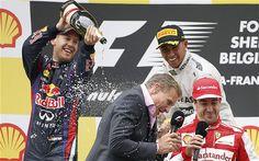Belgian Grand Prix 2013: Sebastian Vettel wins at Spa for Red Bull as Lewis Hamilton forced to settle for third