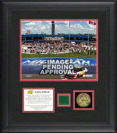 "Mounted Memories Greg Biffle 2012 Pure Michigan 400 8""x10"" Photo w/ Gold Coin & Race-Used Flag- L.E. of 116 by Mounted Memories. $99.99. This unique collectible commemorates Greg Biffle as the 2012 Pure Michigan 400 winner at Michigan International Speedway. The collectible contains an 8x10 photo of Greg Biffle, a descriptive plate, 10KT Gold Plated 1 1/2 inch coin, and a piece of green flag used to start the race. It is officially licensed by NASCAR and comes with a state..."
