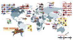Jeux Vidéo Street Fighter  Carte Fond d'écran