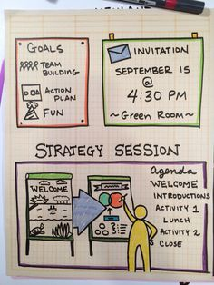 How to Doodle an Agenda - art by: Diane Bleck