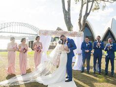 Outdoor weddings: Get married at the Royal Botanic Gardens. Wedding reception at  Dunbar House, Watsons Bay #outdoorwedding #weddingreception #ceremony #bride #groom