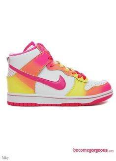 Nike Rainbow Dunk High Top Sneakers