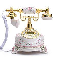 Old Fashioned Decor, Vintage Appliances, Romantic Shabby Chic, Vintage Phones, Home Phone, Desktop, Home Office Decor, Home Decor, Decoration