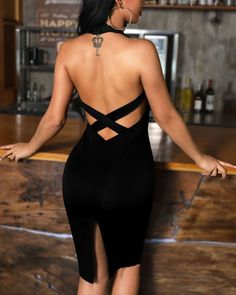 tempt me with a good time Shop link in bio or search www. Black Dress Outfits, Chic Outfits, Sexy Dresses, Cute Dresses, Evening Dresses, Casual Dresses, Short Dresses, Fashion Dresses, Trend Fashion