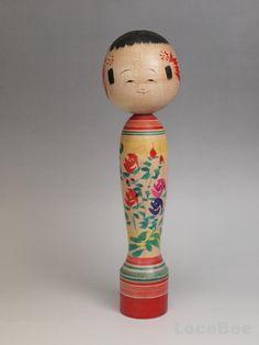 31cm Japanese Traditional Hijiori Kokeshi doll by Ishiyama Sansh