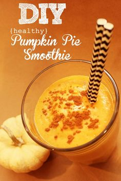 This pumpkin pie smoothie is healthy and delicious. Two of our favorite things. The recipe is easy, and perfect for fall!