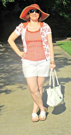 Orange Crush- Sporty Shorts... over 40 fashion blogger
