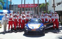 The #TPCR field poses for a pre-qualifying photo at the @ToyotaGPLB #LetsGoPlaces