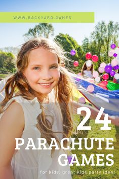 View the best Parachute Games for Kids. Our list has Games to Play with a parachute such as Popcorn, Waves, Mushroom, Hot Potato and more.
