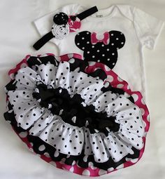 I love! Aria is having a Minnie Mouse 2nd birthday so this outfit would be perfect! :) so cute!