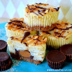 Reese's PB Cup Mini Cheesecakes