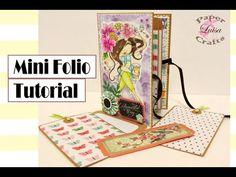 Tutorial Mini Folio - DIY SCRAPBOOK - YouTube