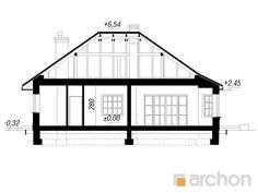 Dom w lotosach 2 Plane 2, Bungalow House Design, Floor Plans, Architecture, House 2, Home, Projects, Arquitetura, Architecture Design