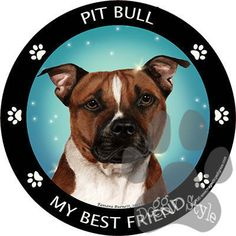 Pit Bull My Best Friend Dog Breed Magnet http://doggystylegifts.com/products/pit-bull-my-best-friend-dog-breed-magnet
