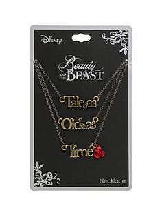 Disney Beauty And The Beast Tale As Old As Time Layered Necklace,