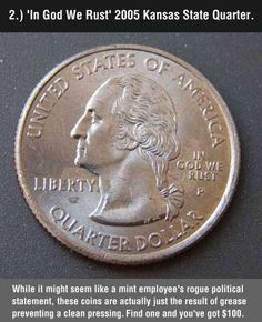 Funny pictures about These 8 Valuable Coins May Be Hiding In Your Change. Oh, and cool pics about These 8 Valuable Coins May Be Hiding In Your Change. Also, These 8 Valuable Coins May Be Hiding In Your Change photos. Valuable Pennies, Valuable Coins, Rare Pennies, Rare Coins Worth Money, Penny Values, 1000 Lifehacks, Just In Case, Just For You, State Quarters