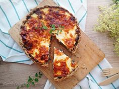 Olive oil dough & yoghurt cream / Mushroom pie with olive oil dough & yogurt cream - Cooking & Art by Marion Creamed Mushrooms, Stuffed Mushrooms, Mushroom Pie, Tart Collections, Cheese Pies, Sweet Pie, Olive Oil, Breakfast Recipes, Brunch