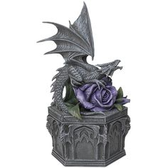 Dragon Beauty Box - Sculture by Anne Stokes