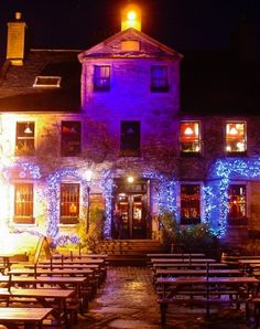 Peartree Edinburgh... Buzzing during the Fringe, cozy on a warm summer night.