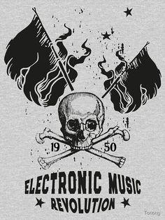 Electronic Music ☆ ELECTRO Music Revolution Tailliertes T-Shirt mit V-Ausschnitt ☆ T-Shirt ☆ Electronic Music Revolution ☆ Die Electronic Music vereint die Generationen und verbindet die Menschen über Grenzen hinweg. Mit diesem Motiv kannst du zeigen, das Musik dein Leben ist. Electro Music, Revolution, Vintage T-shirts, Flower Power, Darth Vader, Electronics, T Shirt, Movie Posters, People