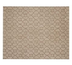 Knot Tufted Rug - Gold | Pottery Barn    Dining Room