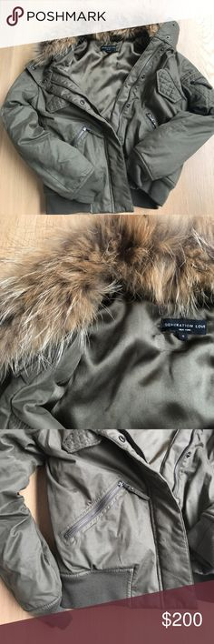 Generation Love Bomber Jacket with Fur Collar Like new! This jacket is perfect for fall and winter as it provides just enough warmth without making it too hot. The fur collar is removable. generation love Jackets & Coats