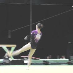 Gorgeous leap<3 (gif of Aliya Mustafina)