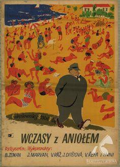 Polish posters: WCZASY Z ANIOŁEM - Karol Ferster (1954)