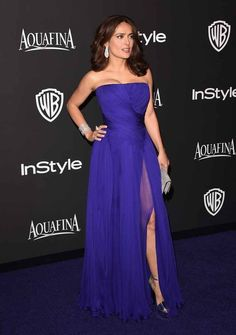 Salma Hayek | And Here's What The Stars Wore To The Golden Globes After-Parties