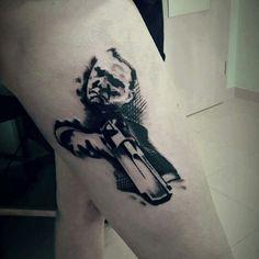 Tony tattoo in progress