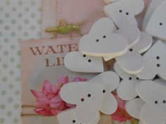 Wooden Buttons Hearts 24 pcs. 1width by lallehandmade on Etsy