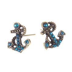 Anchor Diamond Earrings – USD $ 0.99