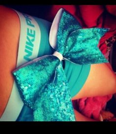 Nike pros and cheer bows are like peanut butter and jelly -Brendalyn