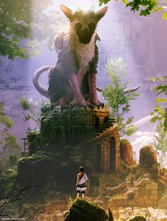 Game art 752030837758651980 - The Last Guardian fan art: Arcipello Shadow Of The Colossus, Star Citizen, Playstation 2, Cartoon Network, Cultural Architecture, Video Game Art, Video Games, Disney Fan Art, Mythical Creatures