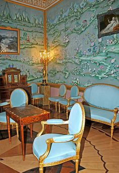 Blue Room, Catherine Palace, Tsarskoye Selo, Russia