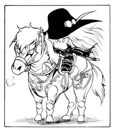 Chibi vampire hunter d and his horse which is going on my shoulder soon