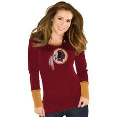 Washington Redskins Touch by Alyssa Milano Ladies Kari Thermal – Burgundy