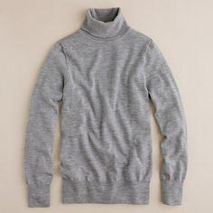 "Merino wool turtleneck sweater | heather graphite | I don't understand why so many ""fashion people"" denounce turtlenecks. I like them."