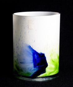 Turned mould blown white opal glass, blue green or green glasspowder. Glass Design, Design Art, Vintage Designs, Retro Vintage, Lassi, Coraline, New Pins, Aladdin, Finland